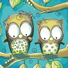'Blue Owls' by Rachelle Anne Miller