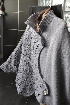Inspiration--crochet embellishment...many photos but no instructions.  Gorgeous
