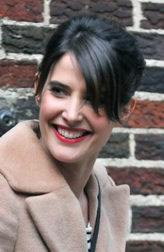 Cobie Smulders chic updo with bangs