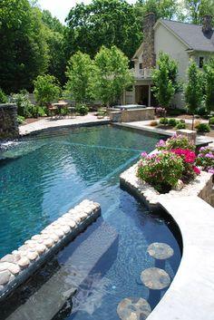 Lovely natural design pool