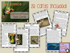 Life Science Informational Text Cards $ {28 cards on high-interest topics for reading comprehension}