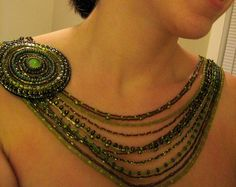 bead idea, bead necklac, beaded necklaces, beauti bead, awesom statement, statement piec