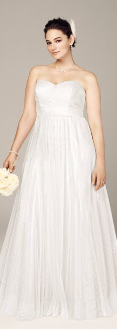 Cute sweetheart wedding dress from david 39 s bridal read for Wedding dresses for apple shaped body