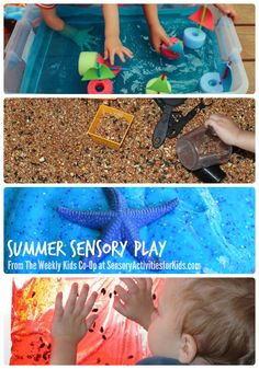 20+ Summer Sensory Play Ideas + The Weekly Kids Co-Op at Sensory Activities for Kids Blog #kids #play #sensory #spd #kbn