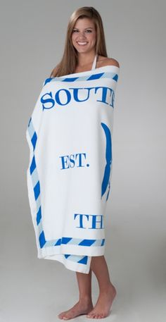 Southern Tide beach towel in white. www.BellasBoutiqueBainbridge.com for ordering information! #SouthernTide #Skipjack