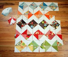 Playing with triangles for quilt