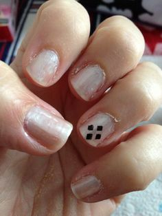 This was meant as NASCAR nail design for race day but it can be football game day