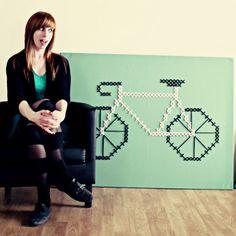 Jessica Decker - giant bike cross stitch
