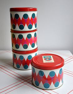 Vintage OpArt Tin 1960 Brasil || MisterTrue on Etsy