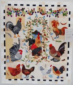 Wonderful rooster quilt!