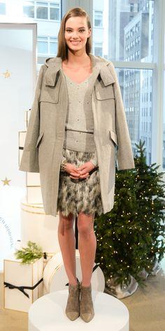 a luxurious grey wool duffle coat