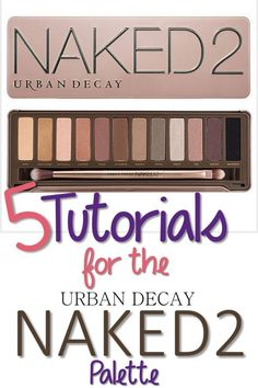 5 Tutorials for Your Urban Decay Naked 2 Palette - Oooh! I just bought this too! Can't wait to use it! :)