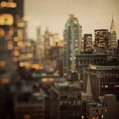 New York Photography, City of glass City Photography, City Life, City Lights, Bright Lights, New York City, Place, Big City, Chrysler Building, Tilt Shift