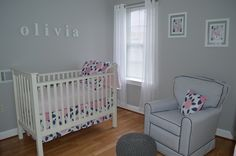 Project Nursery - Pink and Navy Blue Nursery