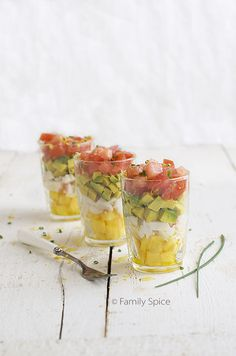 Peach, Crab and Avocado Salsa - a pretty starter for a special Phase 3 lunch.