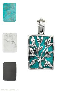 What a clever quick-change artist you are. Includes three interchangeable stone inserts: Compressed Stabilized #Turquoise, White Howlite, and Black Chalcedony. mysilpada.com/karen.mahoney