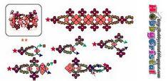 swarovski ring bracelet, bead pattern, bead ring, ring tutori, hobbycrist, diy jewelri, crystal ring, esquema, bead tutori