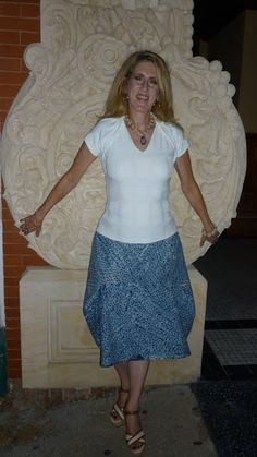 Rectangles On A Cloud. An easy skirt made from 2 easy rectangles.