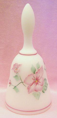 Fenton Bell Opal Satin Pink Flowers