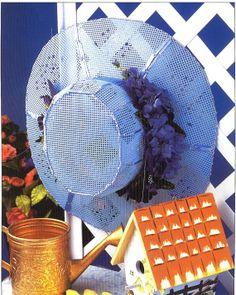 Decorative Hat Plastic Canvas Pattern by needlecraftsupershop, $6.99
