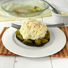 Brussels Sprouts Stuffed Portobello Mushroom With Mashed Potato ...