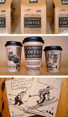 Vermont Coffee Company by Place PD. Repinned by www.strobl-kriegner.com #branding #packaging #design #creative #marketing