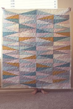 mod diamond quilt by Scrapbook, Etc.