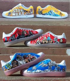 Custom Star Wars Shoes  Or Any Other Theme by eastbaycalifornia, $250.00
