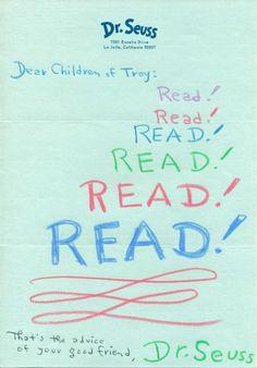 Good advice from Theodor Geisel, aka Dr. Seuss
