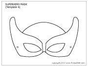 Superhero mask template 4
