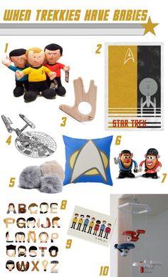 Star Trek Baby gifts! (Definitely get #3!)