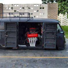 VW bus, slightly modified