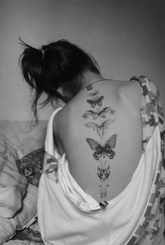 Butterflies tattoo back