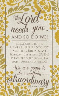 Relief Society PR
