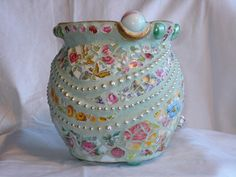 beautiful mosaic pot