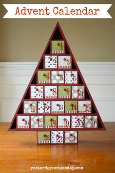 DIY Advent Calendar #adventcalendar #christmascrafts #christmasdecor #yesterdayontuesday
