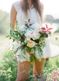 Bouquet by Thistle and Honey | Image by Jose Villa #weddingbouquet #flowers #bridal