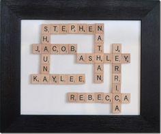 frames, gift ideas, scrabble art, backgrounds, scrabble tiles, christmas, families, family game night, scrabble letters