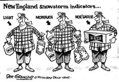 New England storm indicators