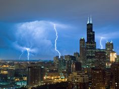 Lightning in Chicago. National Geographic