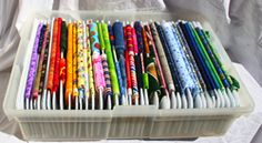What a great idea for storing fabric...gives me an idea for a diy project here :)