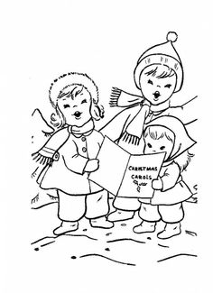 Children are singing Christmas carols