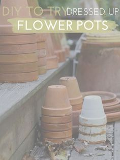 Pretty Spring DIYs To Try: Dressed Up Flower Pots!