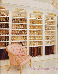 Mr. Big: We're getting married. Should we get you a diamond?   Carrie Bradshaw: No. No. Just get me a really big closet.   (=