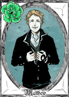 Matthew Fairchild - released on Cassandra Clare's Tumblr - drawn by Cassandra Jean