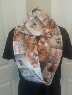 Leonardo da Vinci Artwork KNIT scarf  by NerdAlertCreations, $40.00