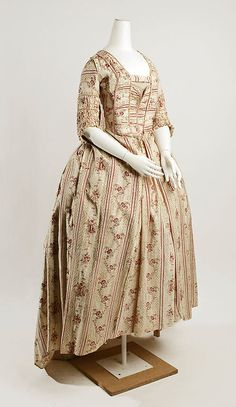 Dress, late 18th c., French, cotton