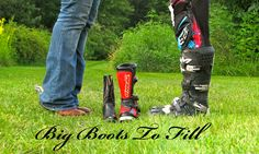 Baby announcement photo idea motocross western cowboy boots