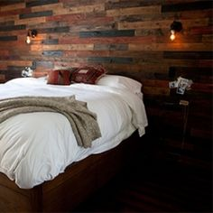 Learn how to make a wood plank wall in your home