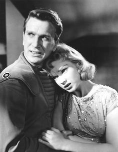 Leslie Nielsen and Anne Francis - Forbidden Planet (1956)